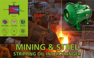 Stripping oil interchanger for steel industry